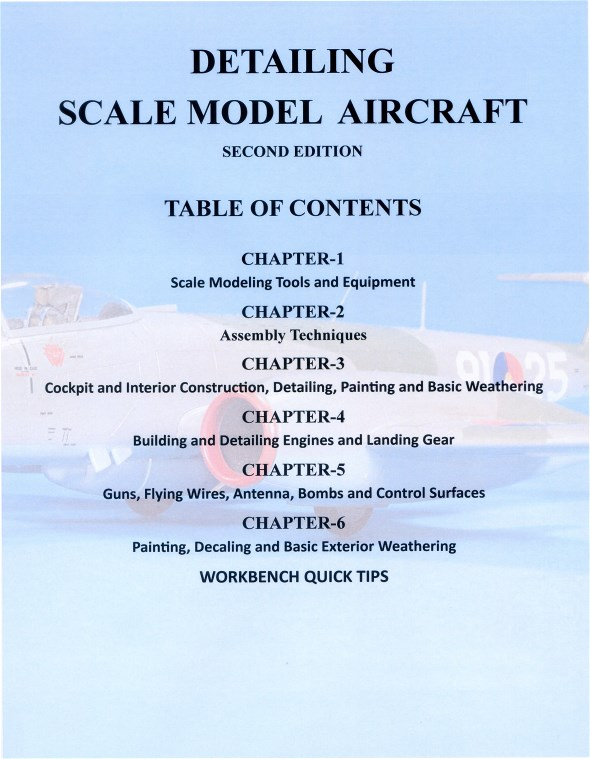 Detailing Scale Model Aircraft, second edition table of contents by Mike Ashey Publishing.
