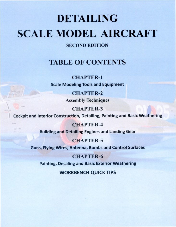 Mike Ashey Publishing Detailing Scale Model Aircraft, Table of Contents, Second Edition.